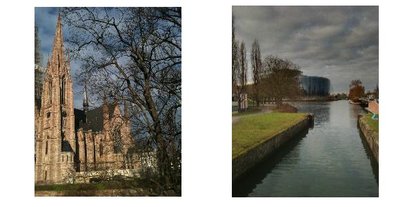 cattedrale e parlamento europeo a strasburgo